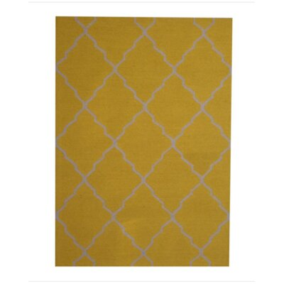 Hand-Tufted Gold/Ivory Indoor Area Rug