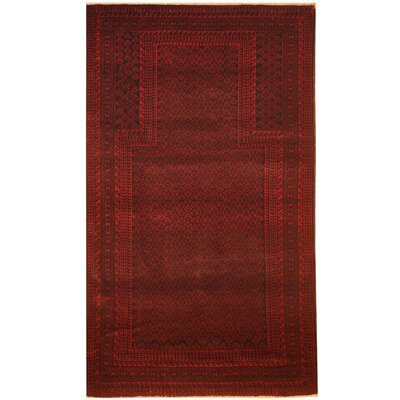 Barlowe Hand-Knotted Burgundy/Navy Area Rug