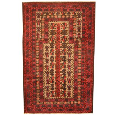 Barlowe Hand-Knotted Ivory/Red Area Rug