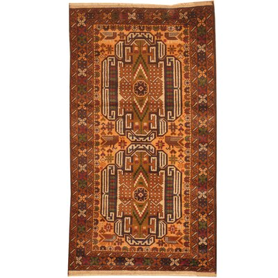 Barlowe Hand-Knotted Peach/Brown Area Rug