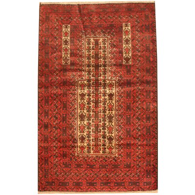 Barlowe Hand-Knotted Ivory/Red Areal Rug