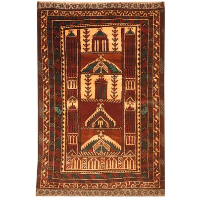 Barlowe Hand-Knotted Peach/Red Area Rug