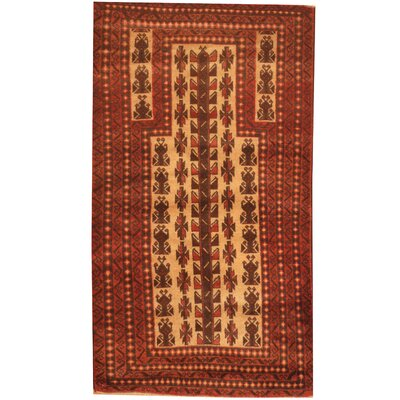 Balouchi Hand-Knotted Ivory/Rust Area Rug