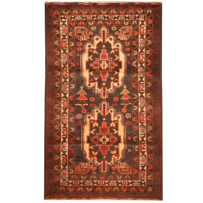 Barlowe Hand-Knotted Peach/Navy Area Rug