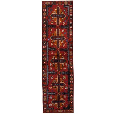 Barlowe Tribal Balouchi Hand-Knotted Red/Navy Area Rug