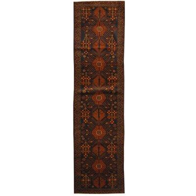 Balouchi Tribal Balouchi Hand-Knotted Navy/Brown Wool Area Rug
