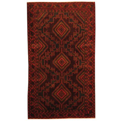 Barlowe Tribal Balouchi Hand-Knotted Navy/Red Area Rug