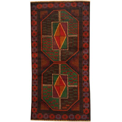 Balouchi Tribal Balouchi Hand-Knotted Green/Navy Area Rug