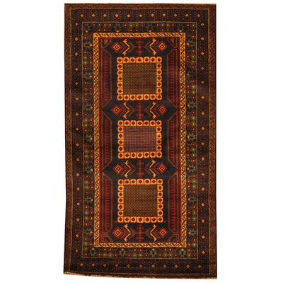 Balouchi Tribal Balouchi Hand-Knotted Navy/Brown Area Rug