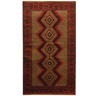 Barlowe Tribal Balouchi Hand-Knotted Red/Ivory Area Rug