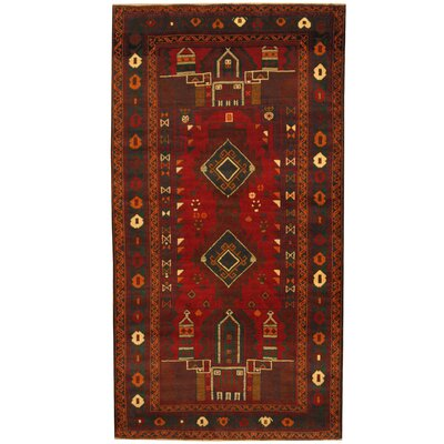 Balouchi Tribal Balouchi Hand-Knotted Red/Green Area Rug