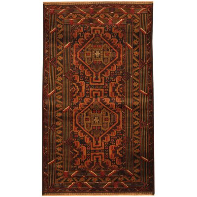 Balouchi Tribal Balouchi Hand-Knotted Navy/Tan Area Rug