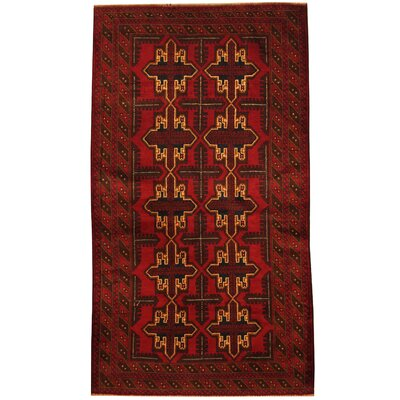 Barlowe Tribal Balouchi Hand-Knotted Red/Brown Wool Area Rug