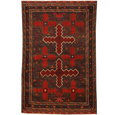 Barlowe Tribal Balouchi Hand-Knotted Blue/Red Area Rug
