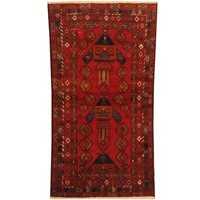Balouchi Tribal Balouchi Hand-Knotted Red/Ivory Area Rug