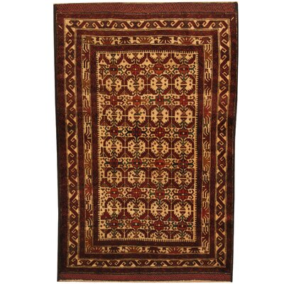 Barlowe Tribal Balouchi Hand-Knotted Ivory/Red Area Rug