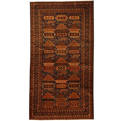 Barlowe Tribal Balouchi Hand-Knotted Navy/Brown Area Rug
