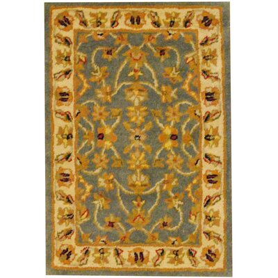 Hand-Tufted Blue/Gold Area Rug