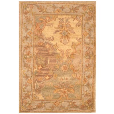 Hand-Tufted Beige/Brown Area Rug