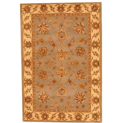 Hand-Tufted Gray/Beige Area Rug Rug Size: 4 x 6