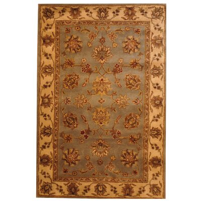 Hand-Tufted Gray/Beige Area Rug Rug Size: 5 x 8