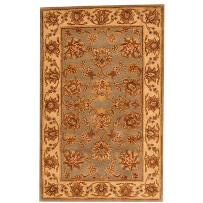 Hand-Tufted Gray/Beige Area Rug Rug Size: 33 x 53