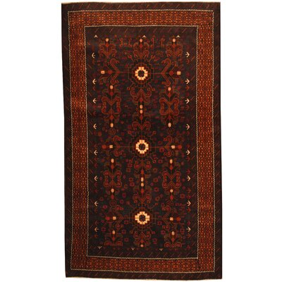 Barlowe Hand-Knotted Navy/Brown Area Rug