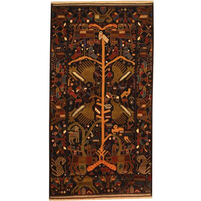 Balouchi Hand-Knotted Navy/Green Area Rug