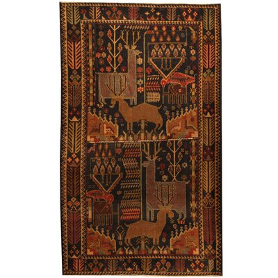 Balouchi Hand-Knotted Navy/Tan Area Rug