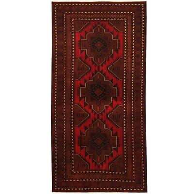 Barlowe Hand-Knotted Red/Brown Area Rug