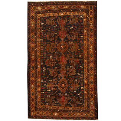 Barlowe Hand-Knotted Navy/Beige Area Rug