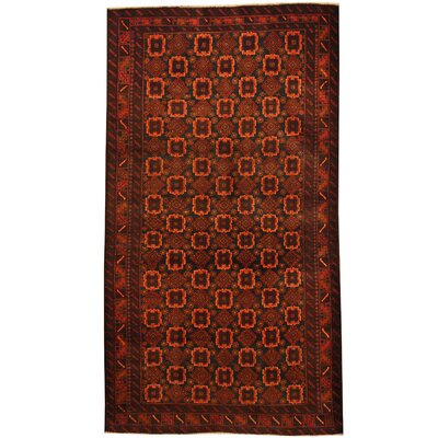 Balouchi Hand-Knotted Navy/Orange Area Rug
