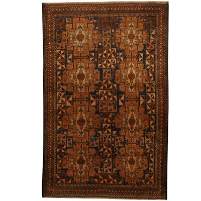 Balouchi Hand-Knotted Black/Tan Area Rug