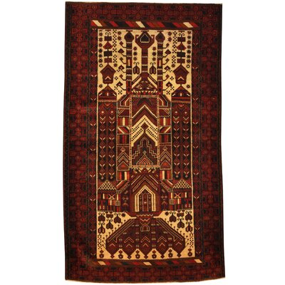 Balouchi Hand-Knotted Gold/Red Area Rug