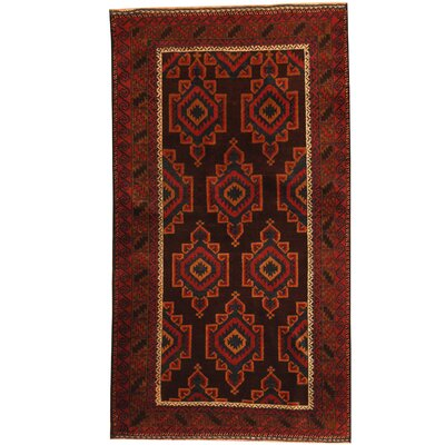 Balouchi Hand-Knotted Brown/Red Area Rug