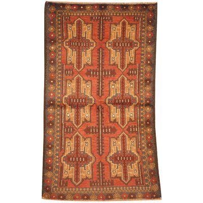 Balouchi Hand Knotted Wool Rust/Tan Area Rug