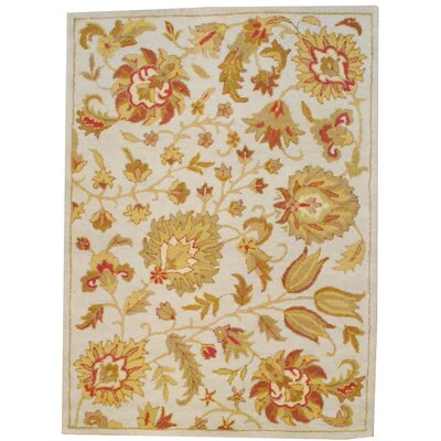 Hand Tufted Wool Beige/Light Green Area Rug