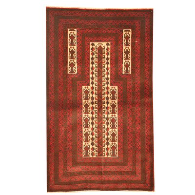 Balouchi Hand Knotted Wool Red/Brown Area Rug