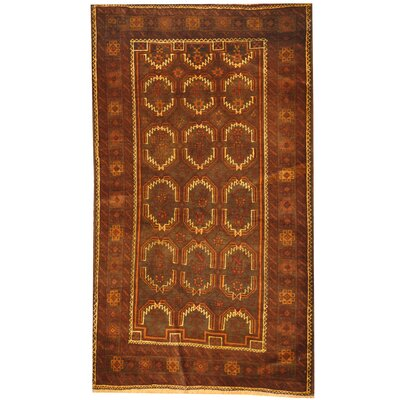 Balouchi Hand Knotted Wool Brown/Ivory Area Rug