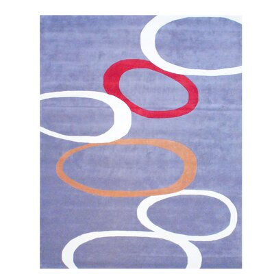 Hand Tufted Wool Gray/Red Area Rug