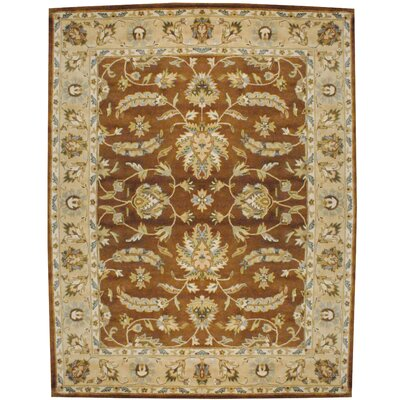 Hand Tufted Wool Brown/Beige Area Rug Rug Size: Rectangle 8 x 10