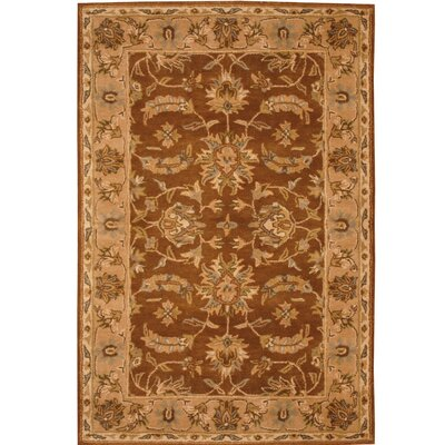 Hand-Tufted Wool Brown/Beige Area Rug Rug Size: Rectangle 4 x 6
