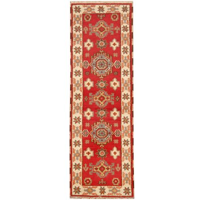Kazak Hand-Knotted Red/ Ivory Area Rug