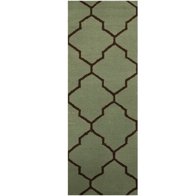 Hand-Tufted Green/Brown Area Rug