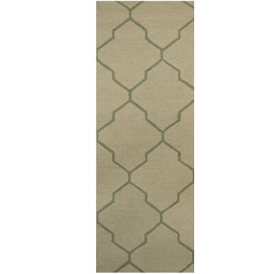Hand-Tufted Light Green/Green Area Rug