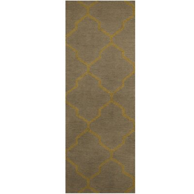 Hand-Tufted Gray/Light Green Area Rug