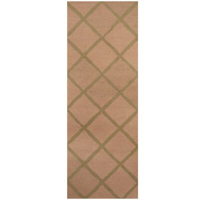 Hand-Tufted Beige/Light Green Area Rug