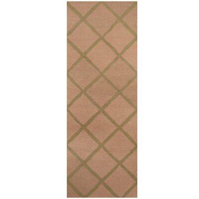 Hand-Tufted Beige/Light Green Area Rug