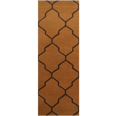 Hand-Tufted Light Brown/Dark Brown Area Rug