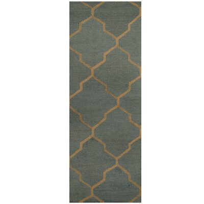 Hand-Tufted Light Blue/Light Gray Area Rug